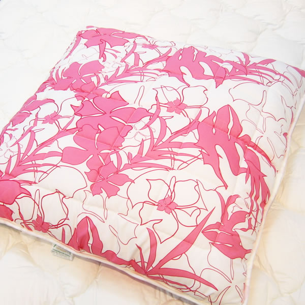 Microfiber Bedding Quilted out Pillows with Printing
