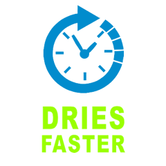 30% Dries faster